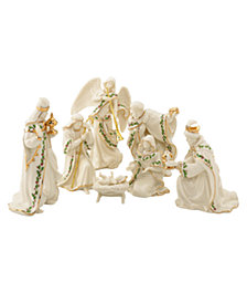 Lenox Holiday Miniature 7 Piece Set Figurines