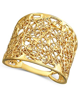 14k gold wire filigree ring rings jewelry watches