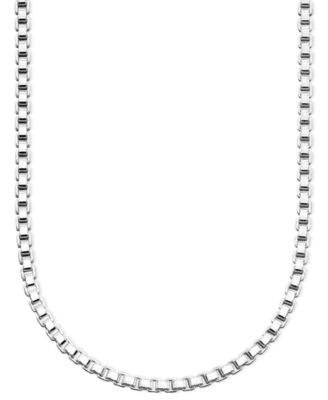 "Sterling Silver Necklace,  30"" Box Chain"