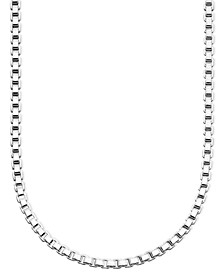 "Sterling Silver Necklace, 16-30"" Box Chain"