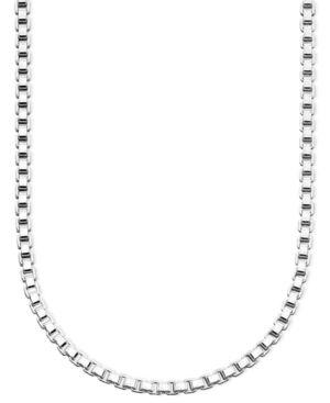"GIANI BERNINI   Giani Bernini Sterling Silver Necklace, 24"" Box Chain   Goxip"
