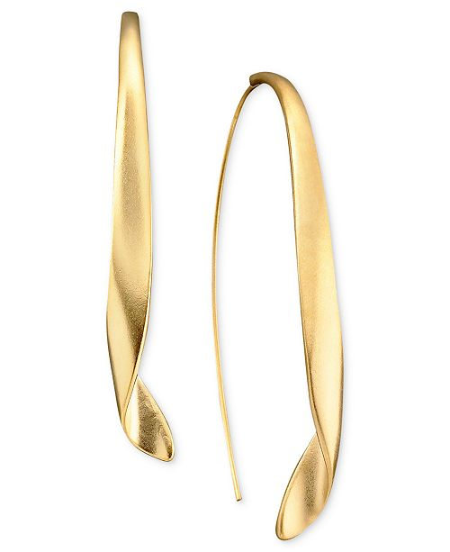 Kenneth Cole New York Gold Twist Pull Thru Earring