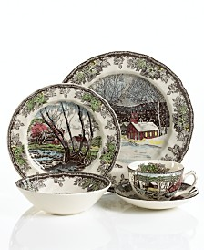 "Johnson Bros. ""Friendly Village"" 5-Piece Place Setting"