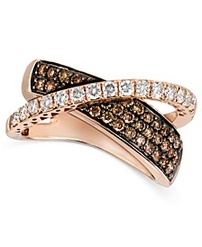 Diamond Chocolate Diamond Crossover (1-1/8 ct. t.w.) in 14k Rose Gold