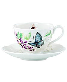 Butterfly Meadow Butterfly Cup and Saucer Set