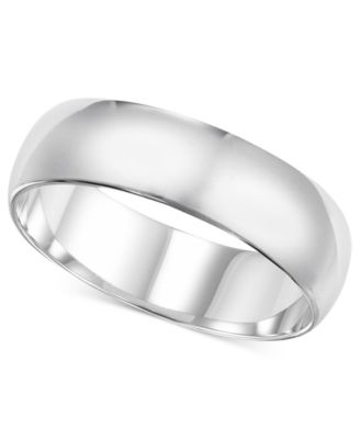 14k White Gold 6mm Wedding Band Rings Jewelry Watches Macys