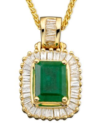 Brasilica by EFFY Emerald (1-3/8 ct. t.w.) and Diamond (1/2 ct. t.w.) in 14k Gold