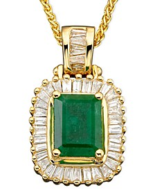 Brasilica by EFFY® Emerald (1-3/8 ct. t.w.) and Diamond (1/2 ct. t.w.) in 14k Gold