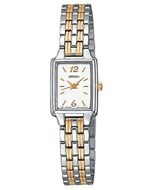 Seiko Women's Two-Tone Stainless Steel Bracelet Watch 24mm