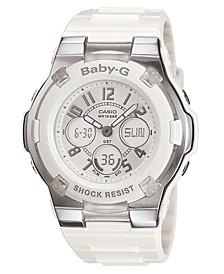 Women's White Resin Strap Watch BGA110-7B