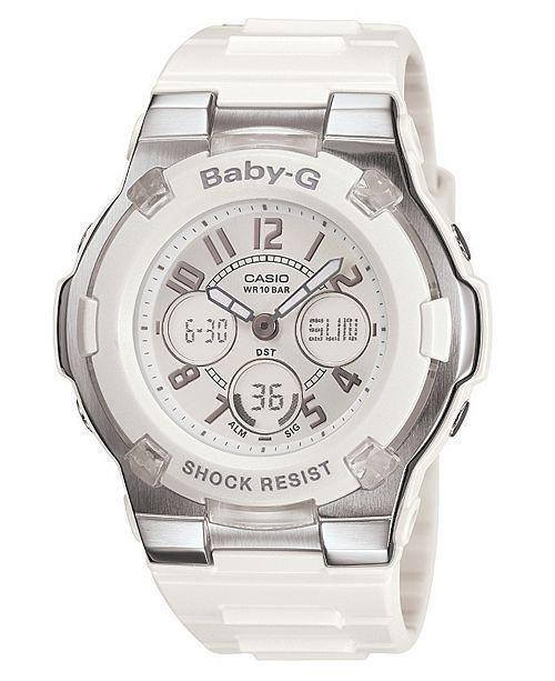 Baby-G Women's White Resin Strap Watch BGA110-7B
