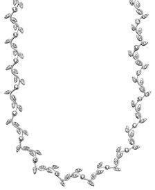 Danori Necklace, Rhodium-Plated Mixed Metal Vine