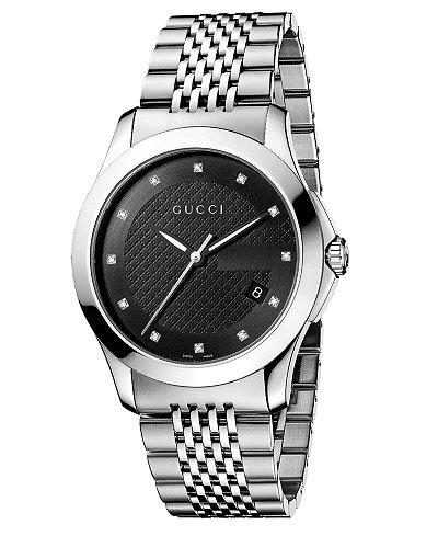 Gucci Watch, Unisex Swiss Stainless Steel Bracelet 38mm YA126405