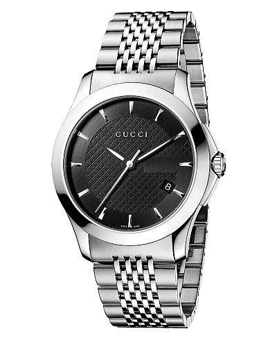 Gucci Watch, Unisex Swiss Stainless Steel Bracelet 38mm YA126402