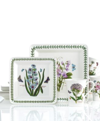 Dinnerware, Botanic Garden Square 12 Piece Set, Service for 4