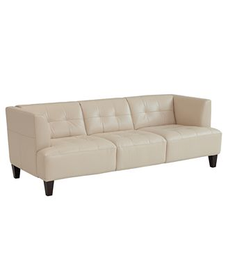 Alessia Leather Sofa - Furniture - Macy'S