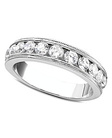 Round-Cut Diamond Band Ring (1 ct. t.w.) in 14k White Gold