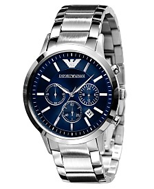 Emporio Armani Watch, Men's Stainless Steel Bracelet 43mm AR2448
