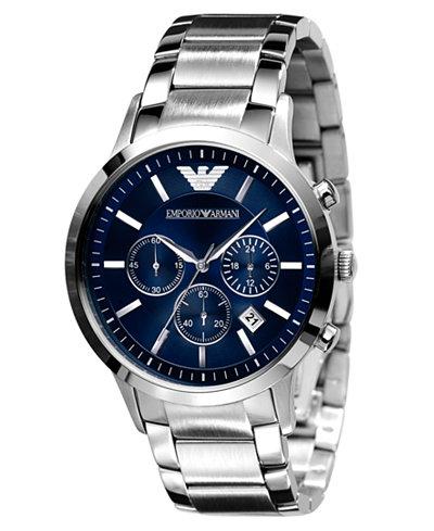 Emporio Armani Watch Men S Stainless Steel Bracelet