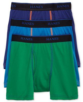 Hanes 3-Pk. Boxer Briefs, Little Boys (2-7) & Big Boys (8-20)