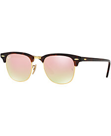 Ray-Ban CLUBMASTER GRADIENT MIRRORED Sunglasses, RB3016 51