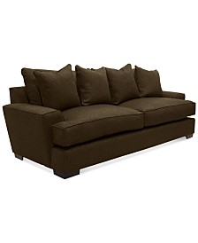 """Ainsley 101"""" Fabric Sofa with 4 Toss Pillows, Created for Macy's"""
