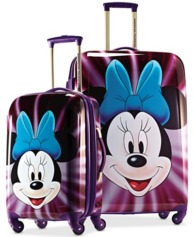Minnie Mouse Face Hardside Spinner Luggage by American Tourister