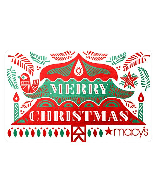 merry christmas gift card with letter