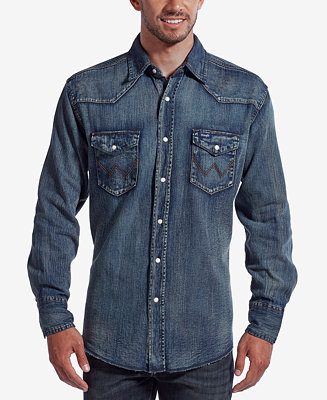 Wrangler Men S Authentic Western Long Sleeve Shirt