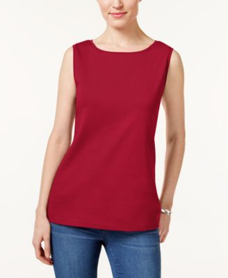 Image of Karen Scott Petite Boat-Neck Tank Top, Created for Macy's