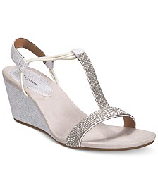 style co mulan 2 embellished evening wedge sandals created for macys