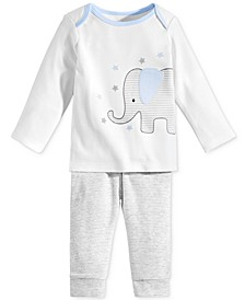 Baby Boys 2-Pc. Elephant Top & Pants Set, Created for Macy's