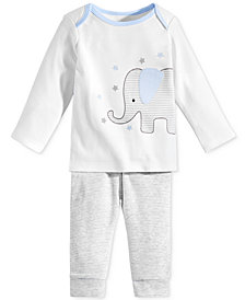 First Impressions 2-Pc. Elephant Top & Pants Set, Baby Boys, Created for Macy's