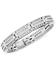 Men's Diamond Linear Cluster Link Bracelet (4 ct. t.w.) in 10k White Gold