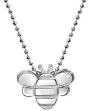Bumble Bee Pendant Necklace in Sterling Silver