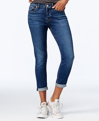 7 For All Mankind Josephina Ripped Straight-Leg Jeans - Jeans ...