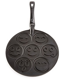 Martha Stewart Collection Smiley Face Pancake Pan, Created for Macy's