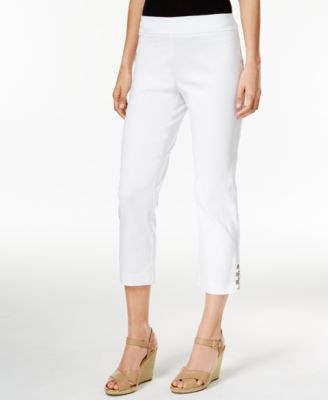 Image of JM Collection Lattice-Hem Capri Pants, Only at Macy's
