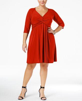 plus size red dress: shop plus size red dress - macy's