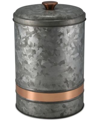 Large Two-Tone Galvanized Canister