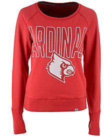'47 Brand Women's Louisville Cardinals React Raglan Long Sleeve T-Shirt