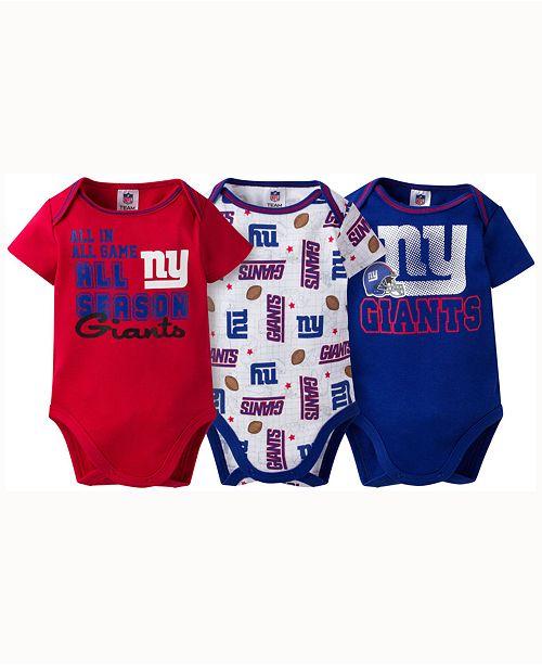 Gerber Childrenswear Babies' New York Giants 3-pack Bodysuit