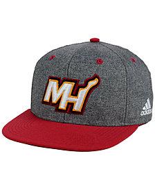 adidas Miami Heat Fog Snapback Cap