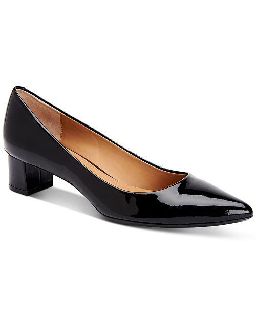 Calvin Klein Women's Genoveva Block-Heel Pumps Women's Shoes qAOVgTgHt