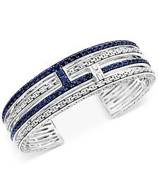EFFY® Balissima Sapphire Cuff Bracelet (4-1/10 ct. t.w.) in Sterling Silver