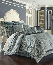 J. Queen 4-Pc. New York Sicily Teal Queen 4-Pc. Comforter Set