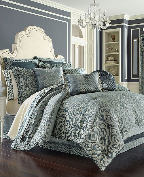 J Queen New York J Queen New York Sicily Teal Bedding