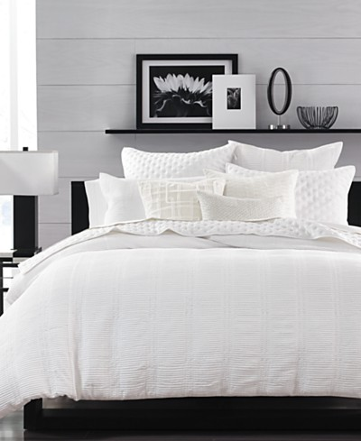 Hotel Collection Pleated Stripe Duvet Covers, Created for Macy's