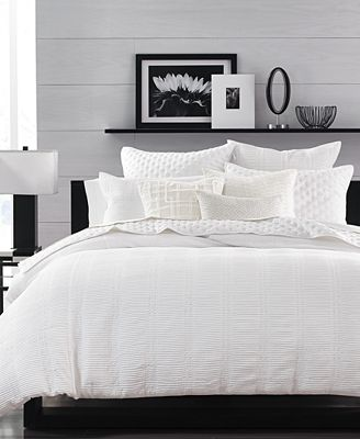 CLOSEOUT! Hotel Collection Pleated Stripe Duvet Covers, Created for Macy's