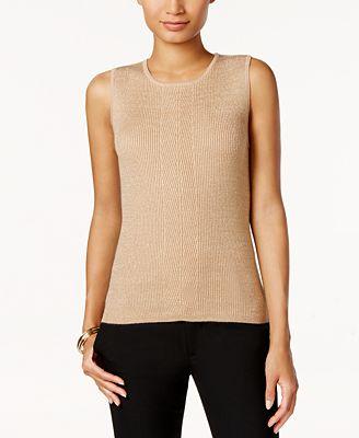 Tommy Hilfiger Metallic-Knit Sweater